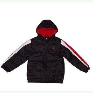 Nike Jordan Air Boys' Puffer Bubble Hooded Jacket
